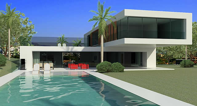 Villas modernas casas contemporaneas en venta en for Modern contemporary house plans for sale