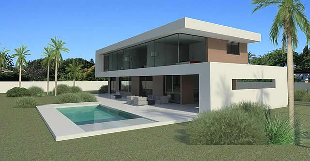 Modern turnkey villas in spain france portugal for Maison container 50000