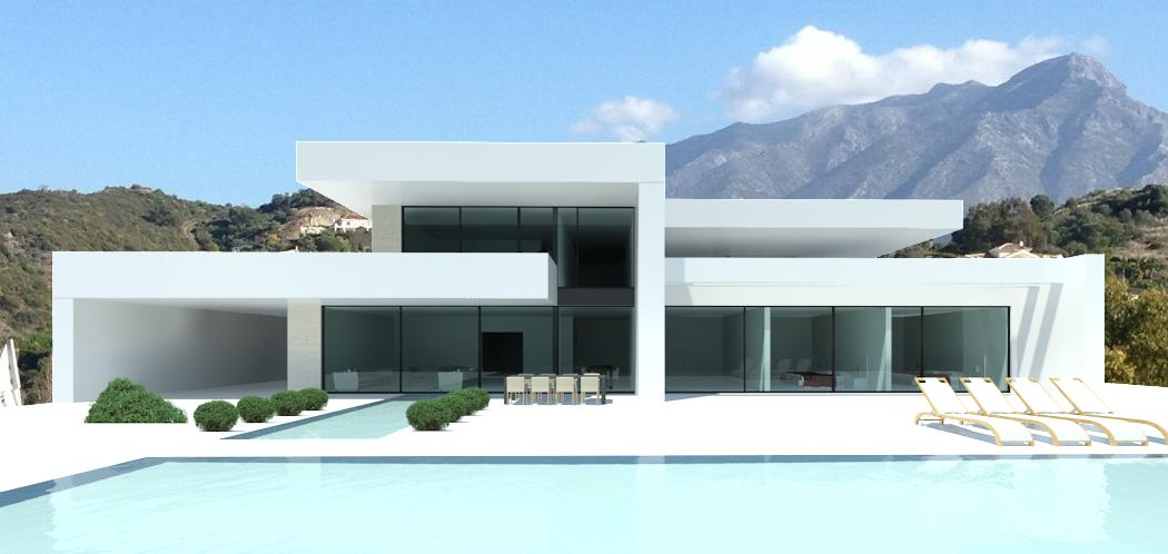 Modern turnkey villas in spain france portugal for Maison duplex moderne