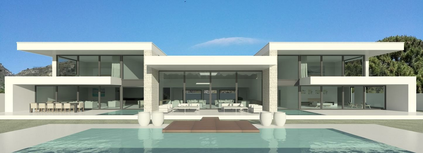Modern villa design Eagle House