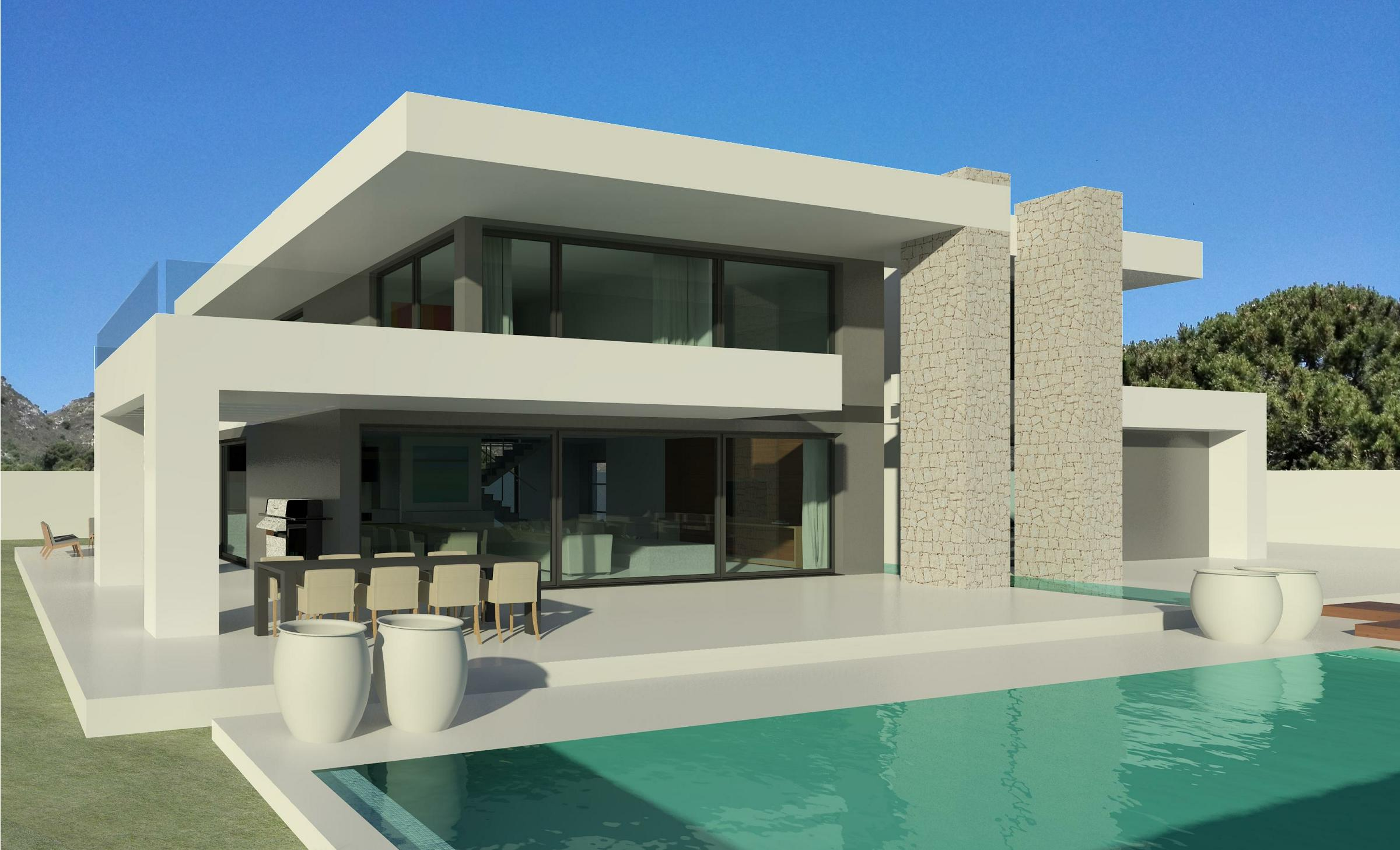 Modern villas marbella for Villa moderne plan