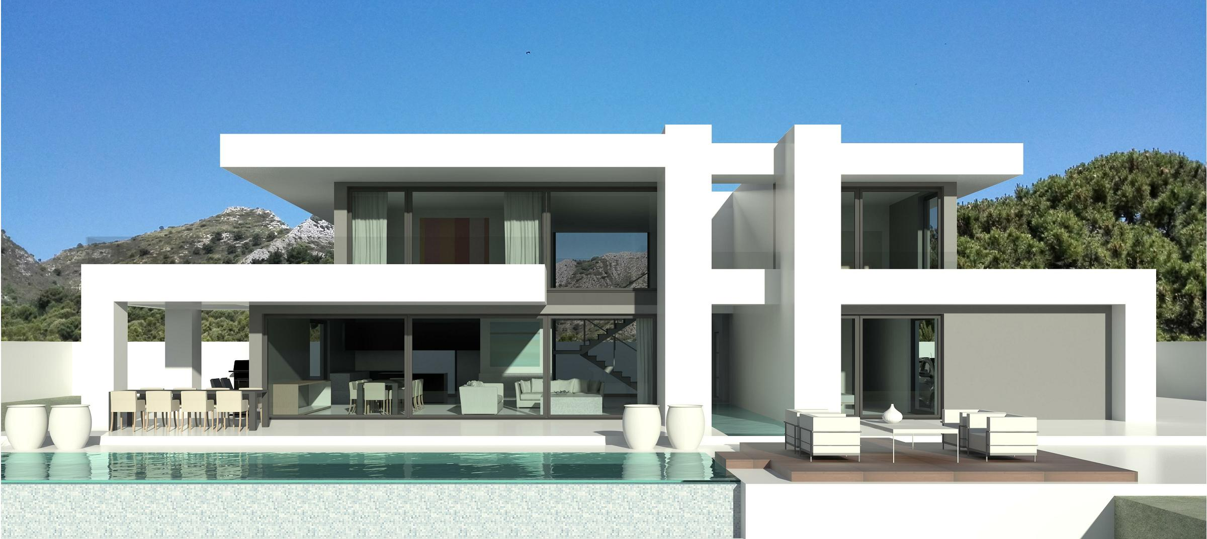 Modern villas marbella for Modern luxury villa design
